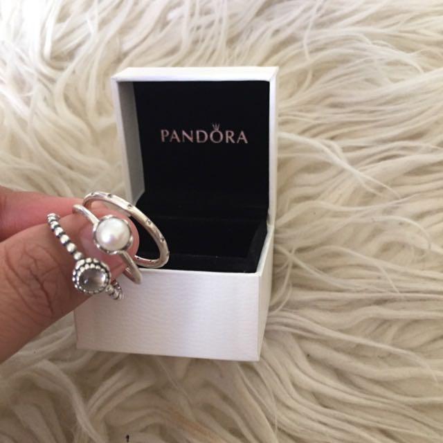 PANDORA RINGS (SET)