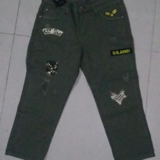 #Reprice# Pants 7/8 Army Size 30