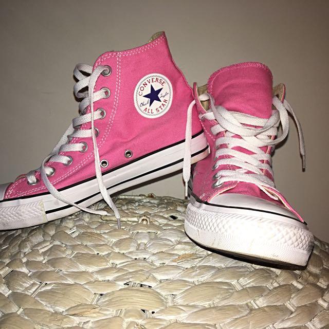 Pink High-Top Converse