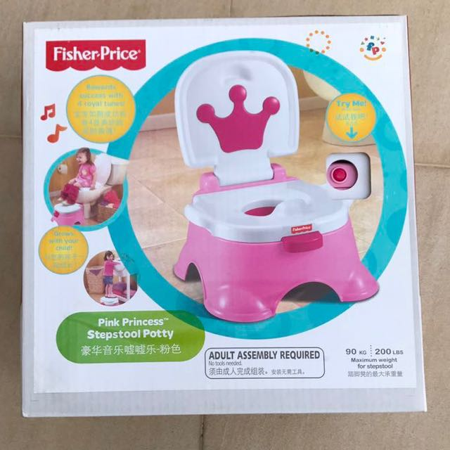Pleasing Pink Princess Step Stool Potty Fisher Price On Carousell Pabps2019 Chair Design Images Pabps2019Com