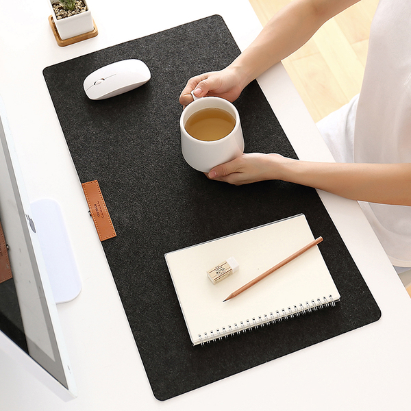 Protective Writing Desk Mat Mouse Pad for Laptops (greyish black)