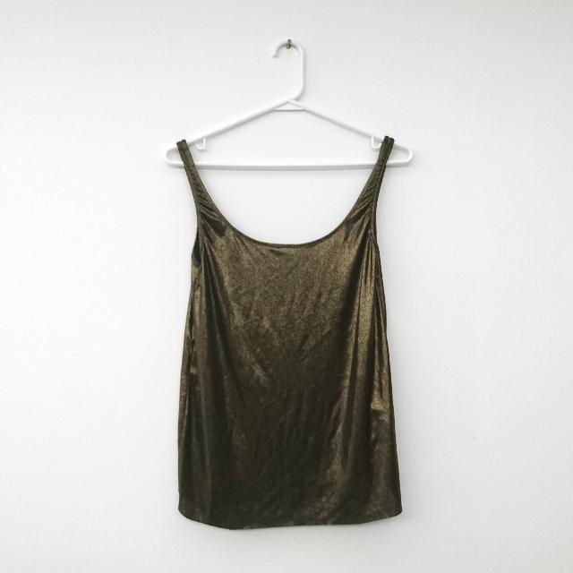 PULL & BEAR 金閃閃吊帶背心 Golden shimmery strappy top