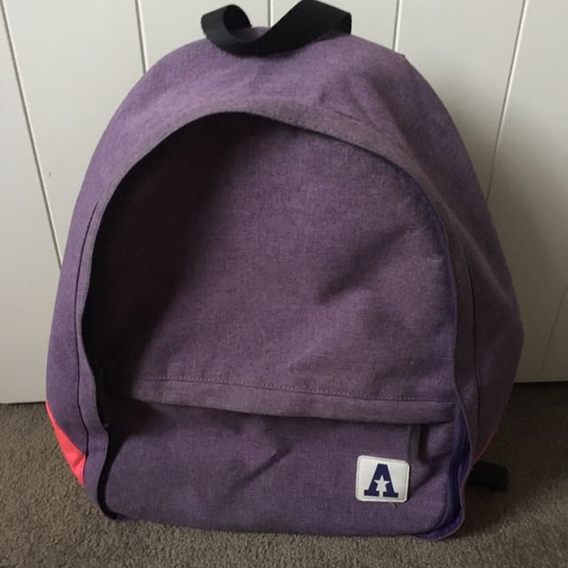 purple school & travel bag