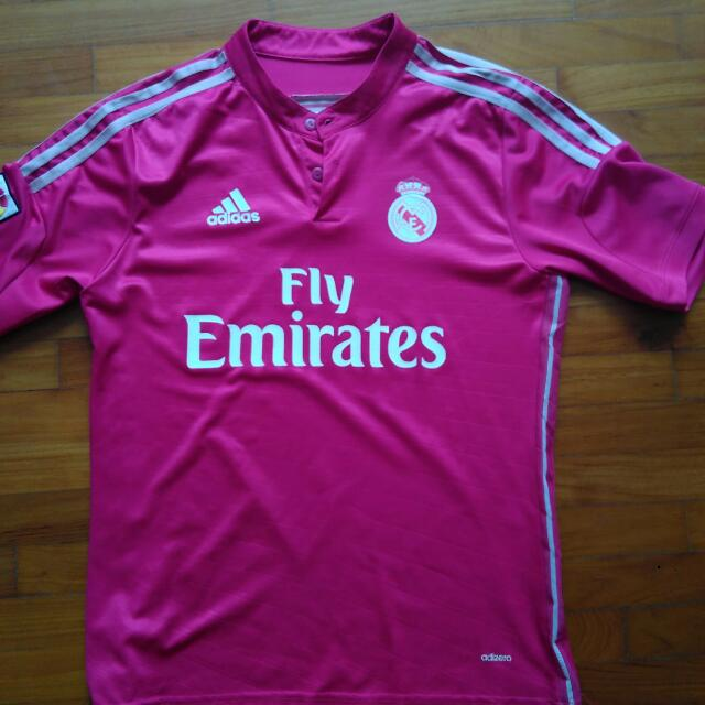 best website 126fd ade8c Real Madrid Pink Away Jersey, Sports, Sports Apparel on ...