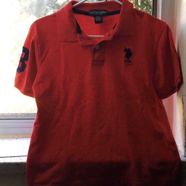 Red U.S Polo Collared Shirt