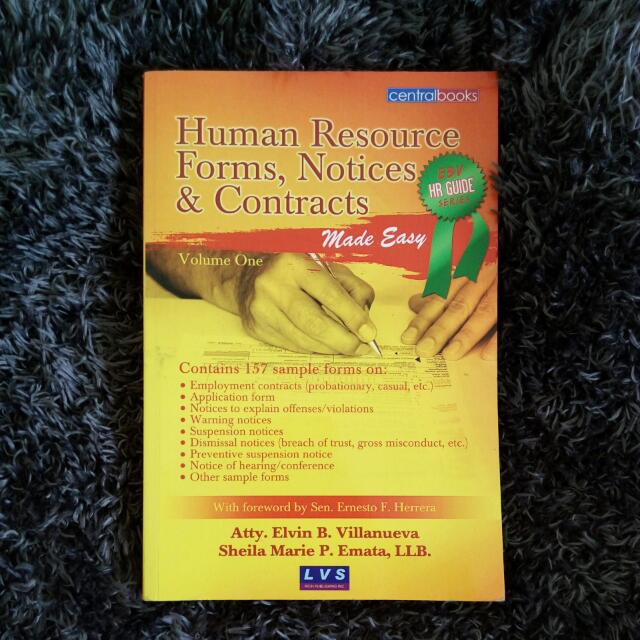 Reference Book: Human Resource Fotms, Notices & Contracts Volume One