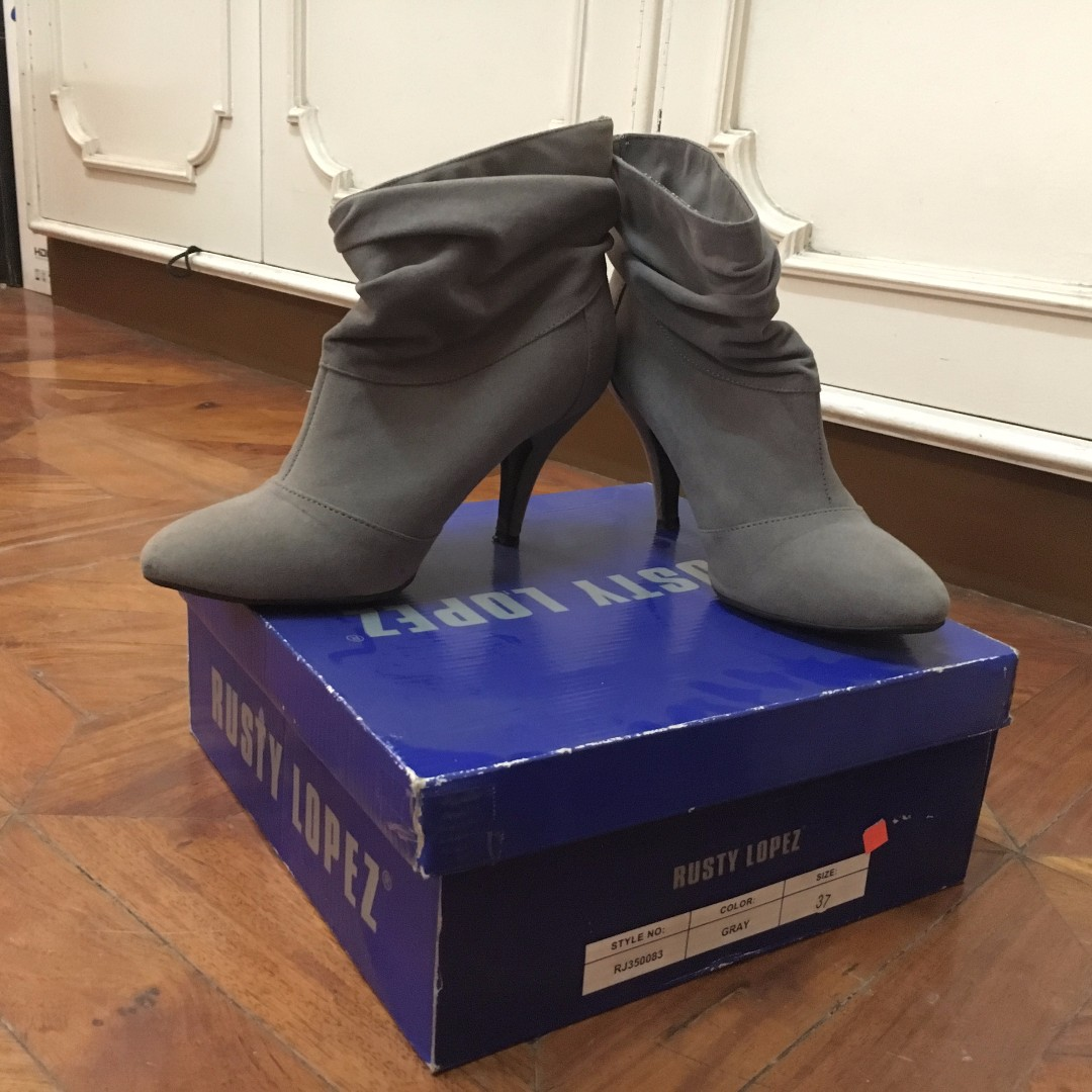 Rusty Lopez Gray Boots