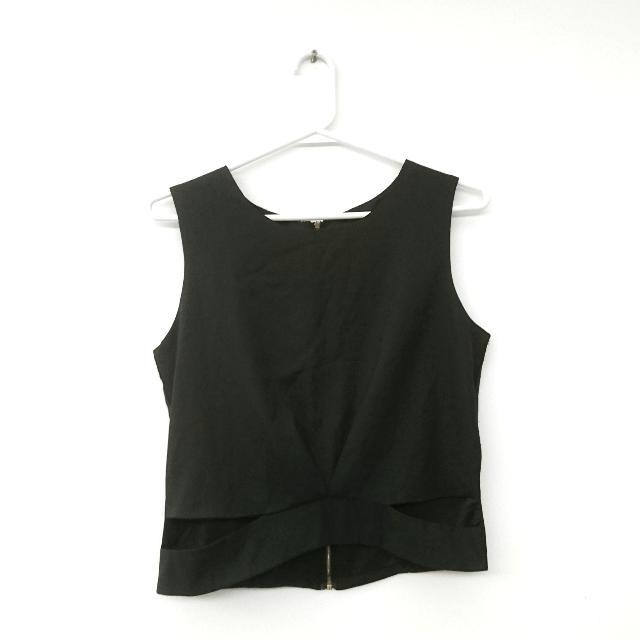 雪紡背心 Chiffon shirt with cut-outs