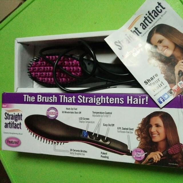 Straight Artifact: Ceramic Hair Straightening Brush
