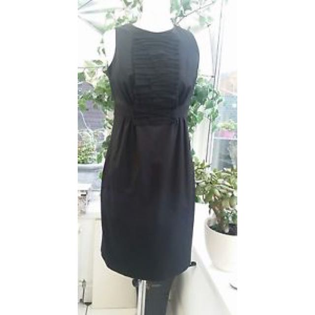 Rn95229 uk8 Ted Dress Black Ca25459 Baker Size Stunning 1