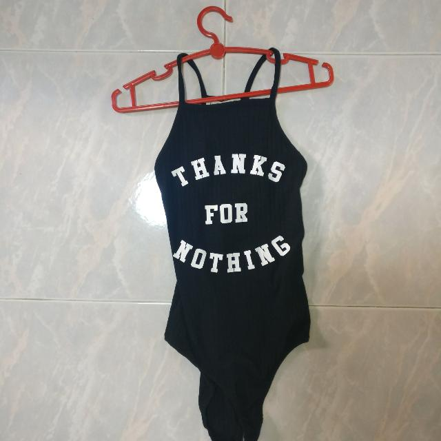 Thanks for nothing one piece strapless