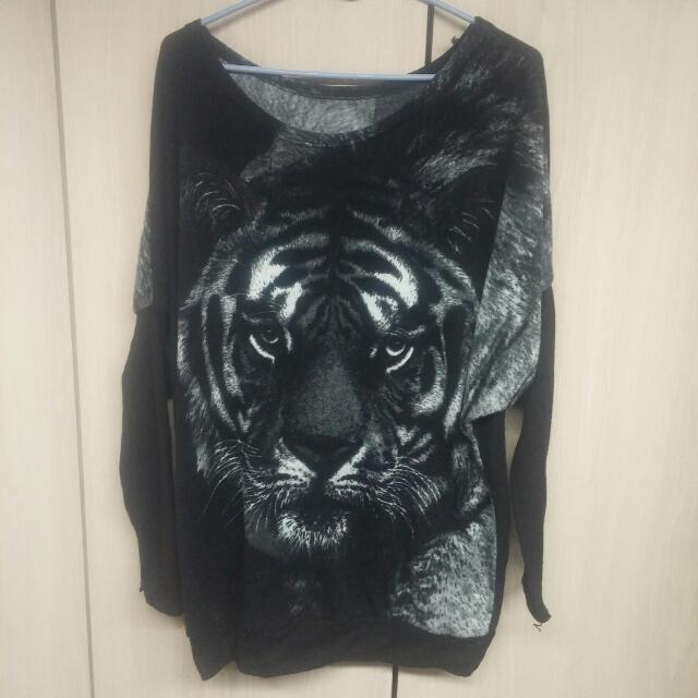 Tiger Face Sweater Dress