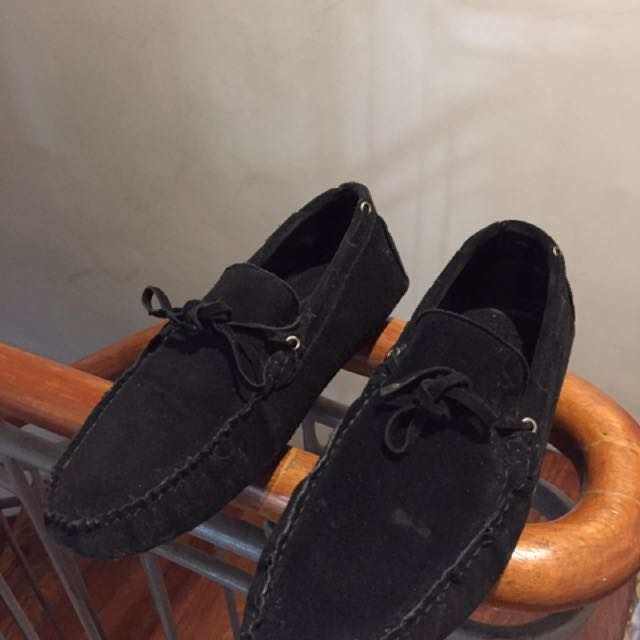 Tod's Black Mocassin Shoes Size 7 / 8