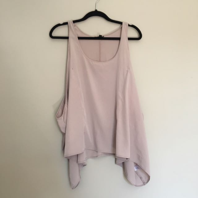 Topshop $40 Side Lace Insert Tank
