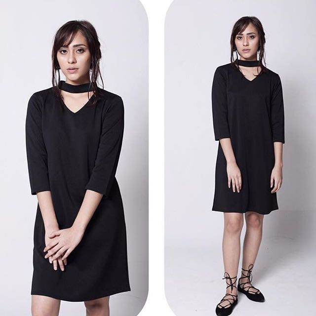 Trapeze Black Dress