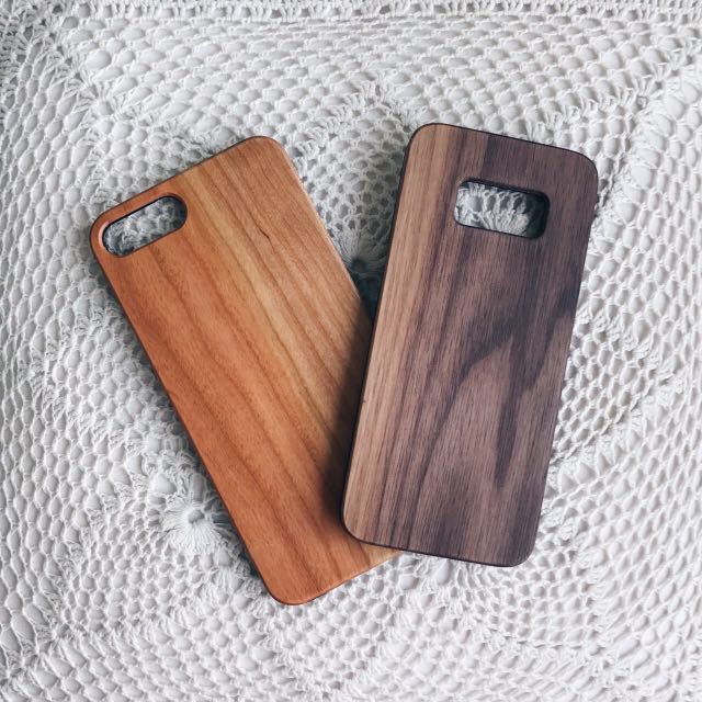 [USA WOOD] Custom engraving for iPhone and Samsung cases