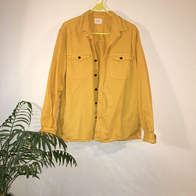 Vanishing Elephant Yellow Shirt Jacket