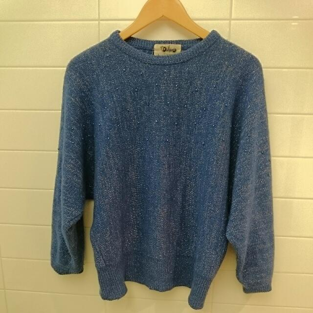 *new price* Vintage Blue Woollen Jumper