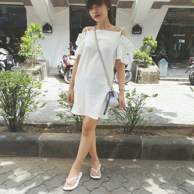 White Clot Dress