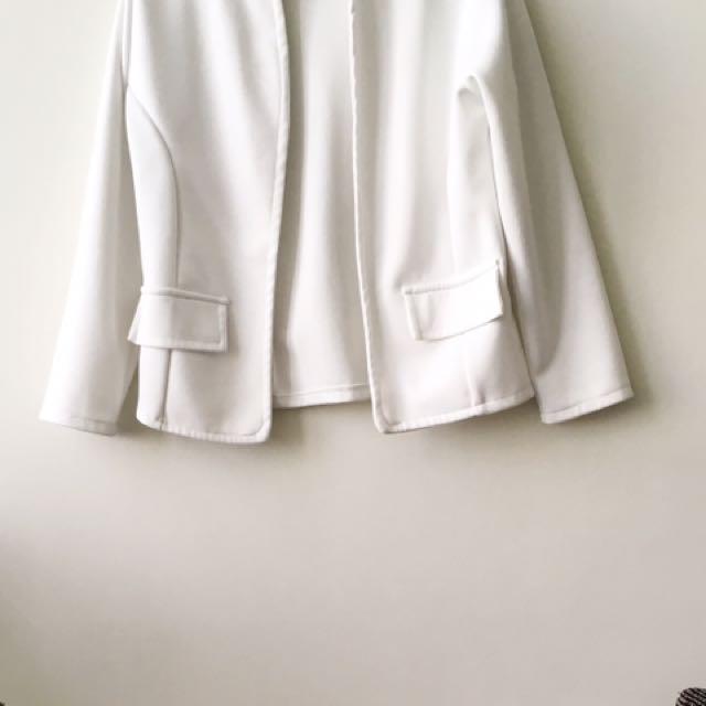 White Neoprene Blazer