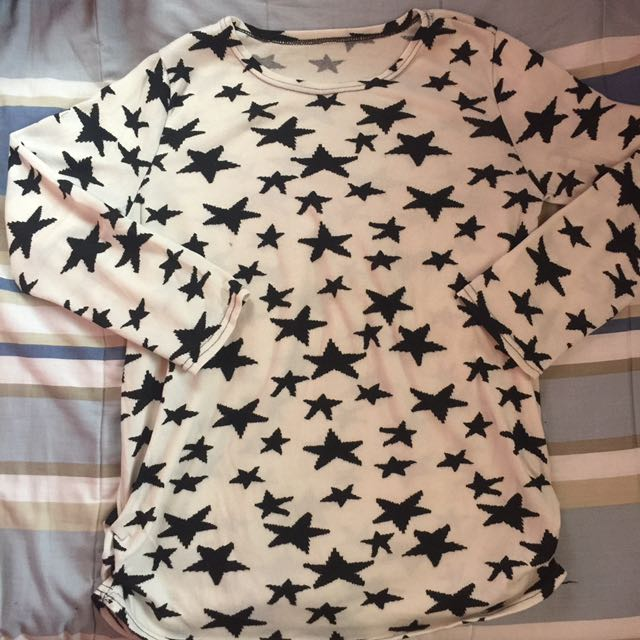 White Star-printed Pullover