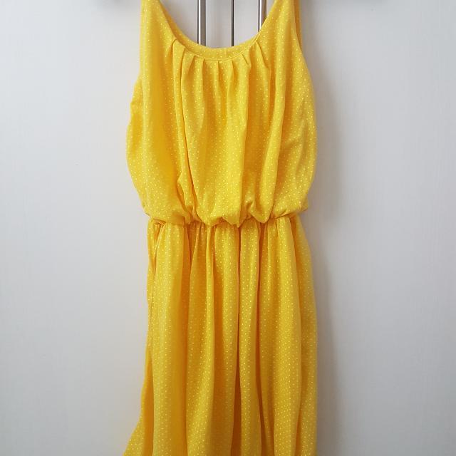 Yellow Polka Dress
