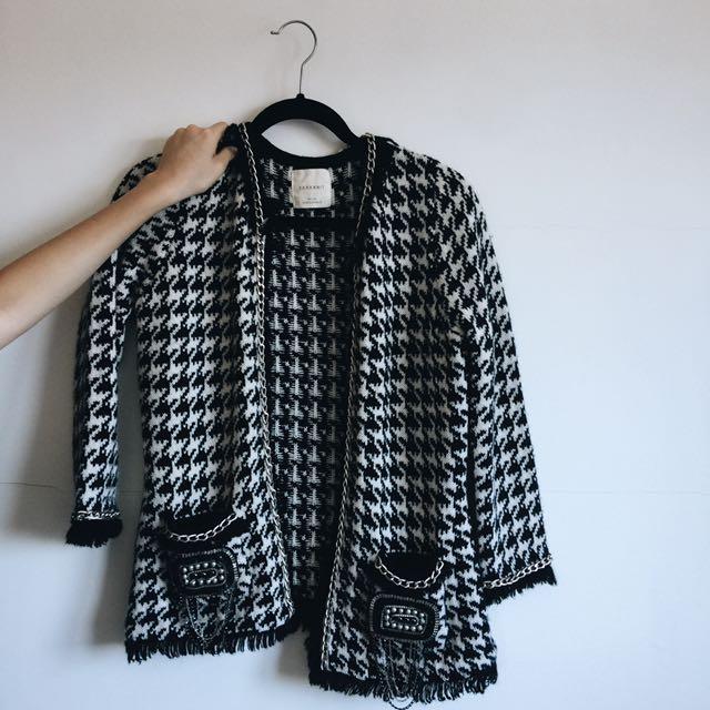 Zara 💯💯💯正品  小香風針織外套🥀