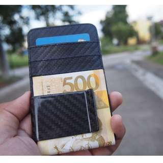 Legit Carbon Fiber Money Clip with Leather Card Holder