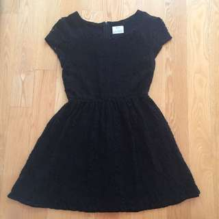 Urban Outfitters Pins And Needles Black Lace Dress With Mesh Sleeves