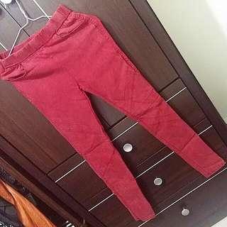 彈性牛仔材質長褲