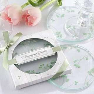 Glass Coaster Spring Leaf