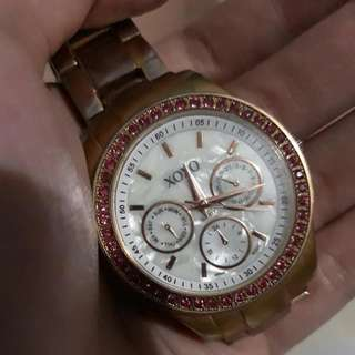 XoXo Rosegold Watch With Studs