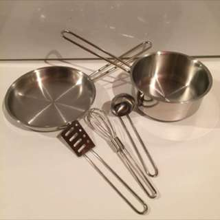 ((NEW)) - Pottery Barn Kids - 5 Piece COOKING SET