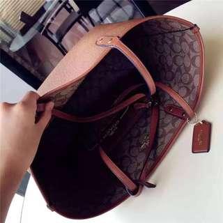 美國outlet購入 超美黑色 coach 肩背包 托特包 購物袋 36876 36875 COACH/蔻馳女包 手提包