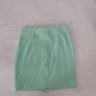 Limité Mint Green Bodycon Skirt