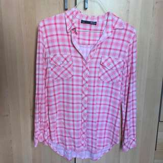 Pink blouse -S