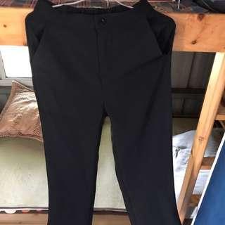 韓版喇叭褲 黑色m號