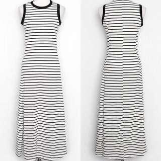 korean stripe maxi dress