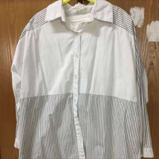 白色條紋襯衫