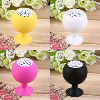 Portable Mini Silicone Sucker Speakers
