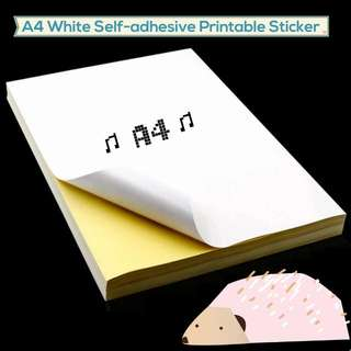A4 Printable Sticker Paper (White & Kraft Available)