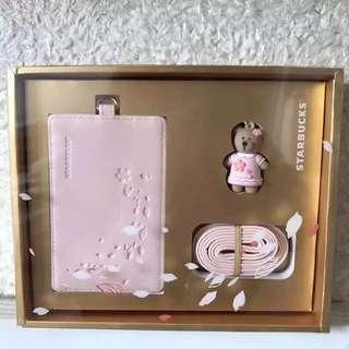 Starbucks Card Holder (set) Limited Edition Sakura Bear