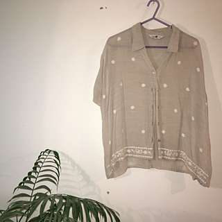 Sheer Embroidered Shirt