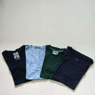 Men's Plain T-Shirts - V & Round Neck