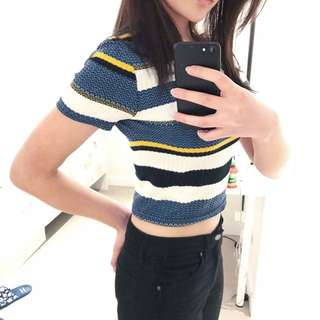 80s Inspired Striped Crop Top By Forever 21