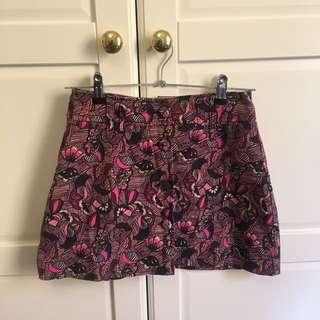 Zara - Print Button Up Skirt