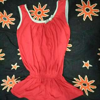 Tanktop Dress Top Baju Atasan