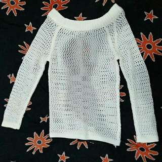Sweater Rajut Jaring