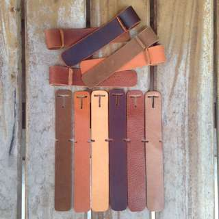Handmade Leather Bag Tags