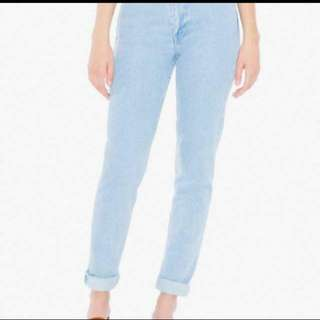 American Apparel High Waisted Jeans, Size 26